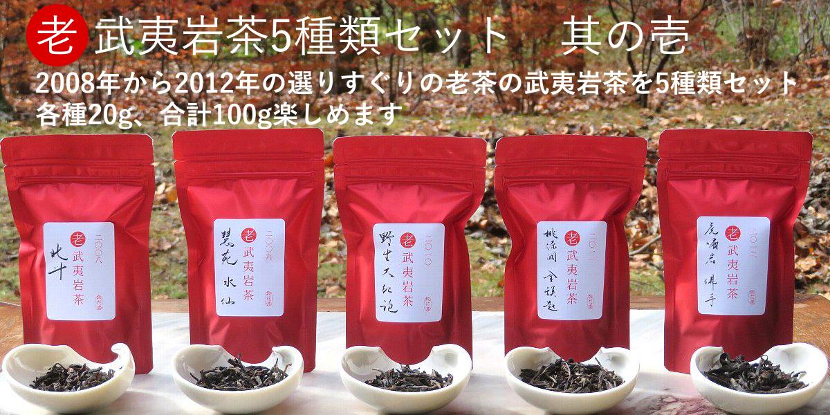 老武夷岩茶5種類セット其の壱