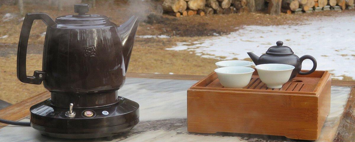 いつも沸きたてのお湯でおいしい中国茶を本格的に味わう!電気ポット