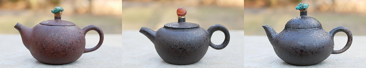 鄭忠龍 鉄斑釉茶壺